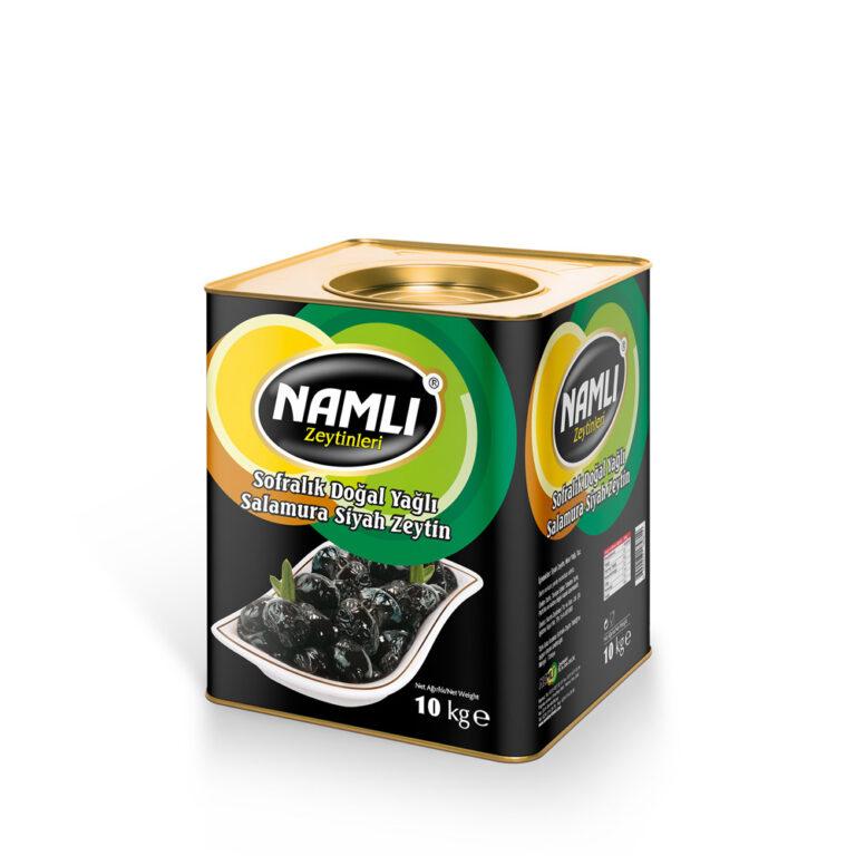 Sofralık Doğal Yağlı Salamura Siyah Zeytin